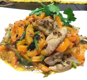 βカロテン多い調理例/鶏モモ肉&パプリカのハニーマスタード